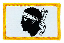 FLAG PATCH PATCHES CORSE CORSICA FRANCE IRON ON COUNTRY EMBROIDERED WORLD SMALL