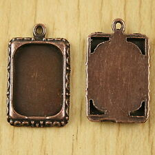 8pcs Copper-Tone Picture Frame Charms h2837