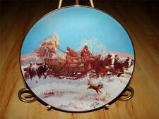 """Winter Chores"" American Farm Collection by Lowell Davis Danbury Plate"