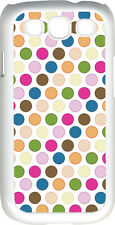 Multi Color Polka Dot Design Samsung Galaxy S3 Case Cover