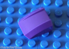 LEGO 30602 2x2 CURVI Lip pendenza NO BORCHIE DK Viola x 2 ** Nuovissimo LEGO **