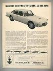 Maserati Quattroporte PRINT AD - 1967