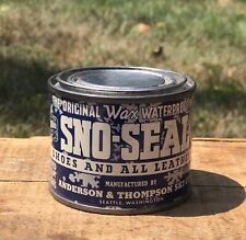 Vintage SNO-SEAL Wax Shoes And Leather Anderson & Thompson Ski Co 4oz Tin Can
