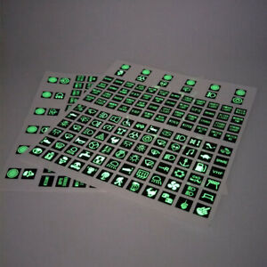 120Pcs Car Interior Panel Console Button Switch Decal Luminous stickers