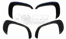 Set Fender Flares Matte For GMC Sierra 2500 Paintable Black OE Style Front Rear