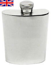 Hand Made Sheffield Pewter Hip Flask, 4oz Kidney with Free Engraving