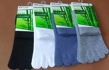 High Quality Men's Five Fingers Toe Sports Cotton Bamboo Fibre Socks 5pair