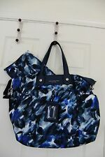 AUTH Marc By Marc Jacobs Preppy Nylon Eliz A Baby Diaper Bag in Multi Blue NWT
