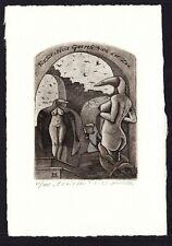 39)Nr.114-EXLIBRIS- Andriy Kens, Erotik / erotic, signiert, C3 - Radierung