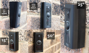 Ring Doorbell Wired 15°, 25°, 50° Angle Corner Mounts 5°, 10° Up Down Wedges