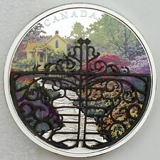 2017 $30 Gate to Enchanted Garden 2 oz Pure Silver Color with White Bronze Gate!
