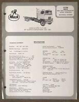 1972 Mack F711RS original Australian sales brochure