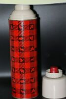 Vintage Winchester Thermos 1960's Red Hunting Plaid w/Orig. Cup & Stopper