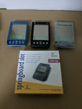 Lot of 3 Classic Handspring Visor Palm Handheld Pda As Is Clean Cases Edge