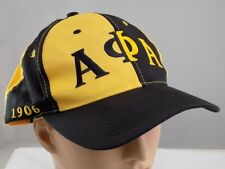 3895da268fb ALPHA PHI ALPHA BLACK STITCHED ADJUSTABLE BASEBALL HAT CAP New Never Worn