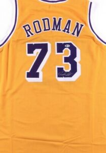 Dennis Rodman Signed Jersey (Beckett COA)Los Angeles Lakers