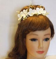 Bridal Hair vine Flower girl headband bridesmaid Flower garland Bridal headpiece