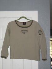 Harley-Davidson LS Woman's Embroidered T-Shirt, Beige, Twin Falls ID, Medium, NW