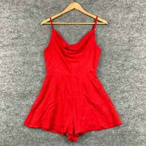 Princess Polly Womens Playsuit Romper Size 8 Red Sleeveless 160.11