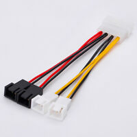 4-Pin Molex to 3-Pin fan Power Cable Adapter Connector 12v5vCooling Fan CablFEH
