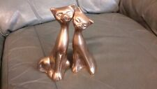 2 x Brass Cats Figurines