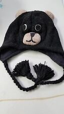 Black Bear Knit Hat for Children