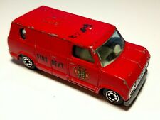 Vintage Yatming Universal Studios Fire Department Van #1051 Red Ford Bedford