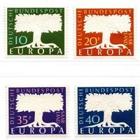 GERMANY 1957 DEUTSCHE BUNDESPOST{SAAR LAND} EUROPA FOUR STAMPS SET MNH