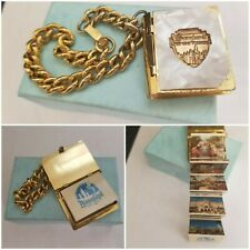 Vintage 1960s Disneyland 10 Photo Album Book Bracelet Castle Small World
