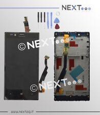 Schermo display LCD touch screen vetro Nokia Lumia 720 + frame + kit riparazione
