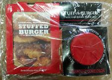 Charcoal Companion Stuff a Burger Press & recipe book set NIP NOS