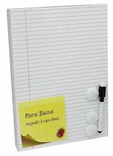 Magnetic Wipe Clean Lined Memo Board With Pen And Magnets