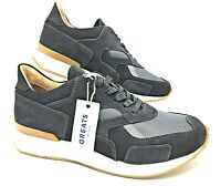 Greats-The Pronto-Graphite-Men's Suede Sneakers-Made in Italy-SZ (PRGA425) $275