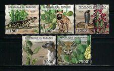 Burundi 2012 Sc#1212a-d,#1237  Cacti & Animals  MNH Set $20.80
