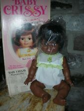"Vintage Ideal Baby Crissy Doll African American Black 24"" Grow Hair Doll Playpal"