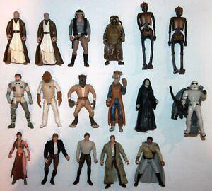 LOT OF 17 Star Wars Kenner Action figures 1996-1998
