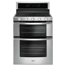 "Whirlpool WGG555S0BS 30"" Stainless Steel Gas Seal Burner Double Oven Range - NIB"