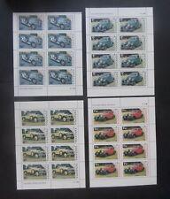 Tanzania 1986 Centenary of Motoring cars SG456/9 sheets MNH UM unmounted mint
