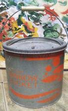 Vintage Woodstream Old Pal Floating Minnow Bucket 24G10- Galvanized- Wood Handle