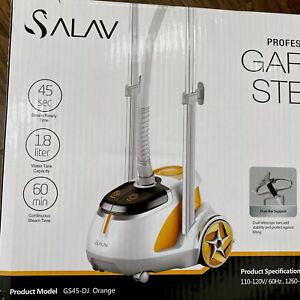 Salav Professional Series 1500 Watt Rolling Dual Bar Garment Steamer, Orange