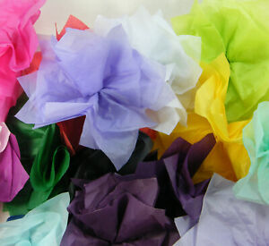 """200 Sheets of Mixed Colours Packing tissue 2nds A/F 50x75cm 20""""x30"""" Read Listing"""