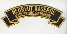 Neureut Kaserne, Karlsruhe Germany rocker scroll tab embroidered patch