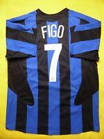 Figo Internazionale Inter Milan 2005 2006 Home XL Shirt Nike Soccer ig93