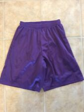 A4 Mesh Unisex Shorts Purple Size Medium Basketball Workout Nwot