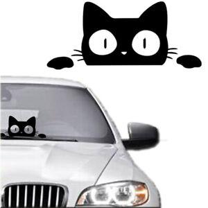 Styling Decoration Bumper Vinyl Surprise Cat Peeking Vehicle Decal Car Sticker