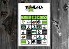 Football Sports Birthday / Super Bowl Party Game Bingo on Card Stock 10/20/30ct