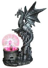 DRAGON POWER   Dragon with Electric TESLA PLASMA BALL Lamp  Statue H13.5''
