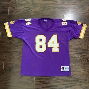 Vintage Randy Moss 84 Minnesota Vikings NFL Football Champion Jersey Youth Sz XL