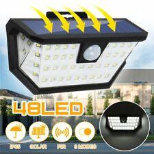 Solarlampe 48LED Solarleuchte mit Bewegungsmelder Außen Flutlicht Gartenlampe