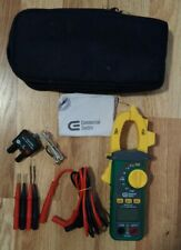 Commercial Electric Clamp Meter With Temperature Meter And Case Used